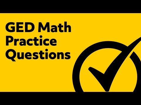 Best GED Practice Test - 5 Math Practice Questions