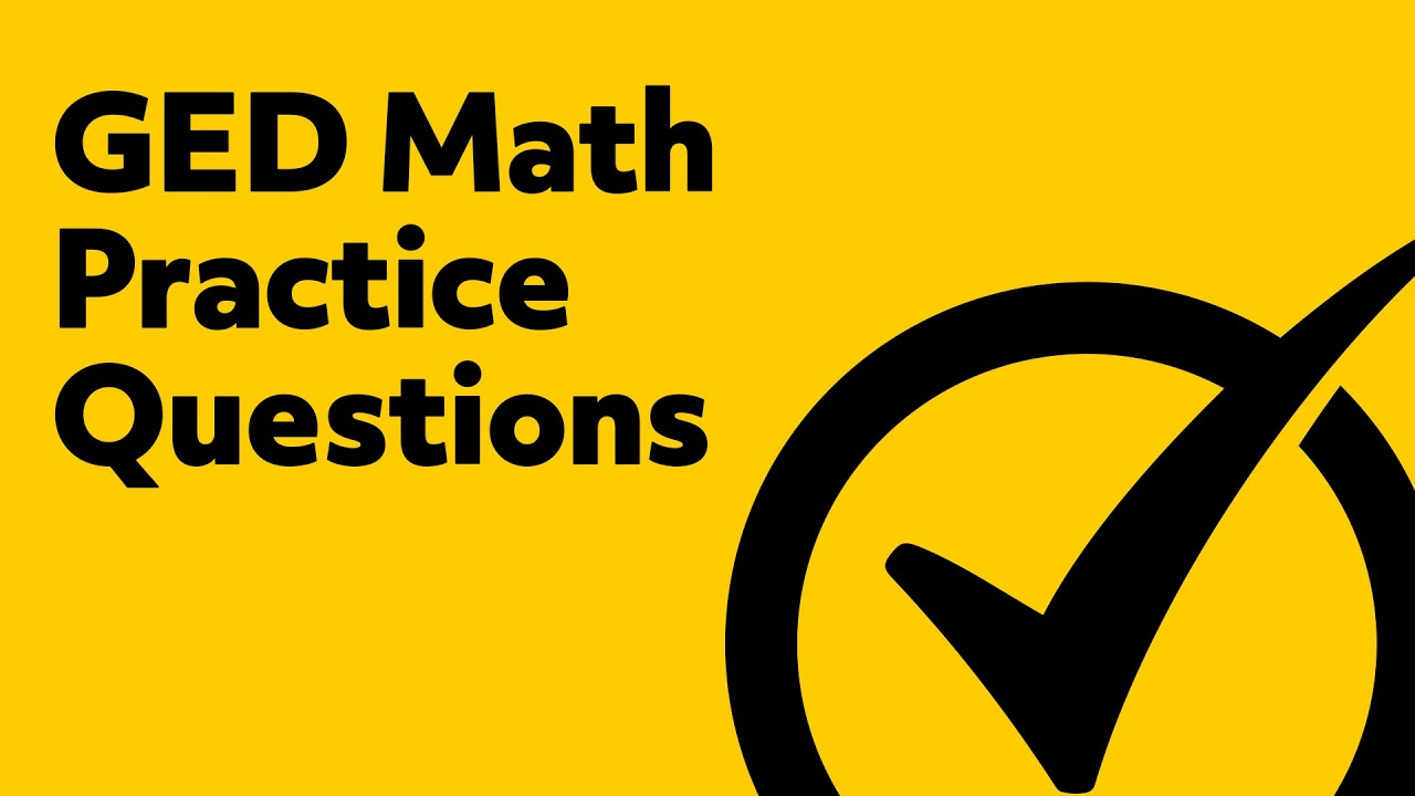 Best GED Practice Test - 5 Math Practice Questions - YouTube