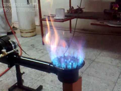 7 Quemador Industrial encendido Modelo nmero 7 vertical
