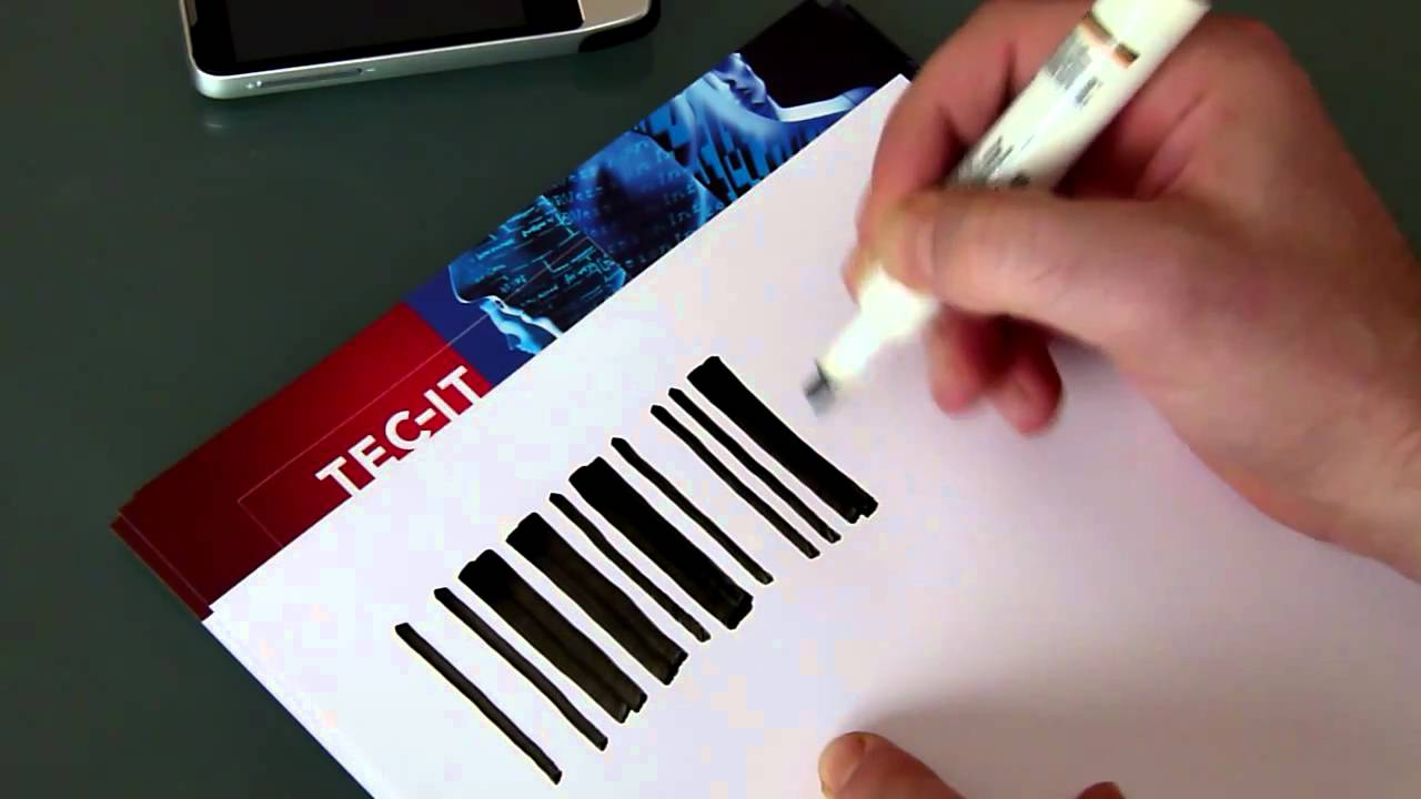 Barcode Experiment 1 Draw A Code 39 Bar Code By Hand