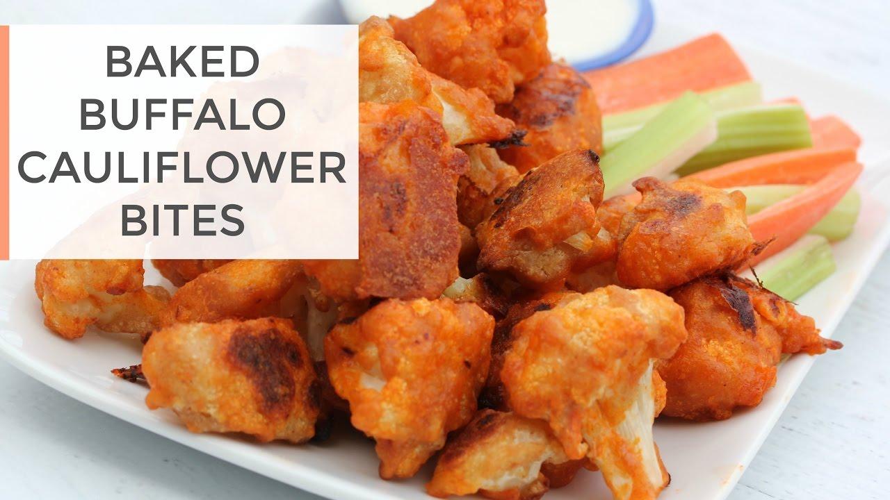 Baked Buffalo Cauliflower Bites Recipe | Healthy Super Bowl Recipe