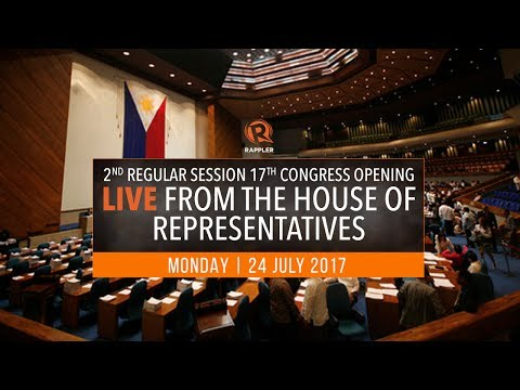 LIVE: House of Representatives, 2nd regular session 17th Congress opening