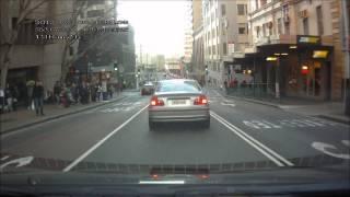 120806 Selfish Driver P Plater using Bus Lane NSW REGO BTK 81M