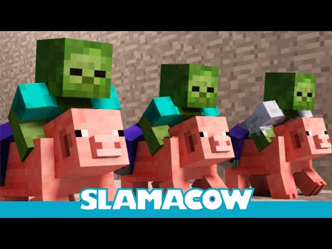 Pig Racing – Minecraft Animation – Slamacow
