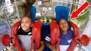 kids passing out girls funny slingshot ride compilation