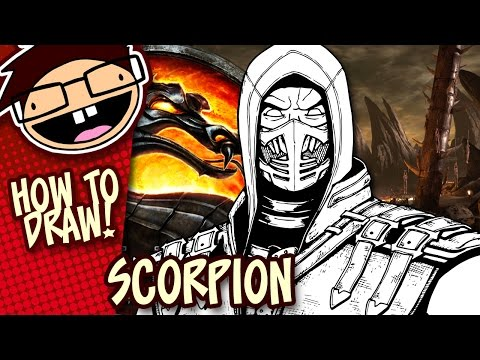 how to draw scorpion from mortal kombat step by step