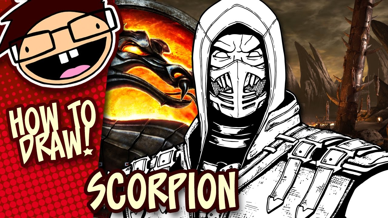 How To Draw Scorpion Mortal Kombat X Narrated Easy Step By