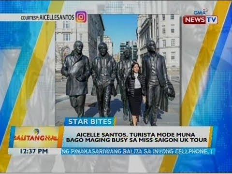 BT: Aicelle Santos, turista mode muna bago maging busy sa Miss Saigon UK Tour