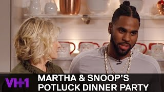 Jason Derulo Helps Martha Stewart Make French Dessert | Martha & Snoop