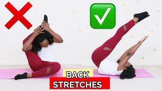 5 MIN RELAXING LOWER BACK STRETCHES and more