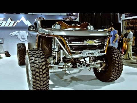 """Kymera"" Chop Top 2015 Chevy Colorado with CUMMINS Twin Turbo SEMA 2016"