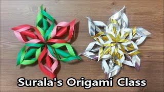 Origami - Snowflake (christmas) / 종이접기 - 눈송이 (크리스마스)