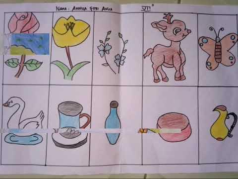 Tugas Praktek Seni Rupa Kelas 7 Menggambar Flora Fauna Benda Alam Youtube