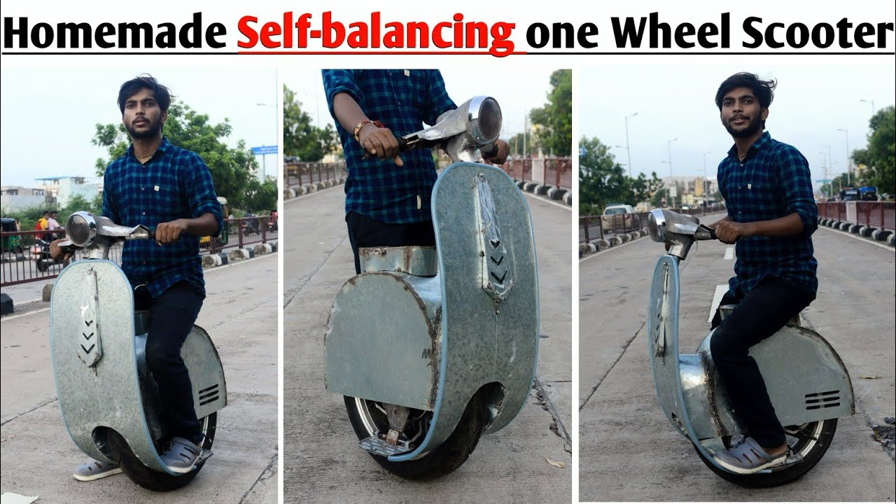 How to make Self-balancing one wheel electric Scooter at home || DIY