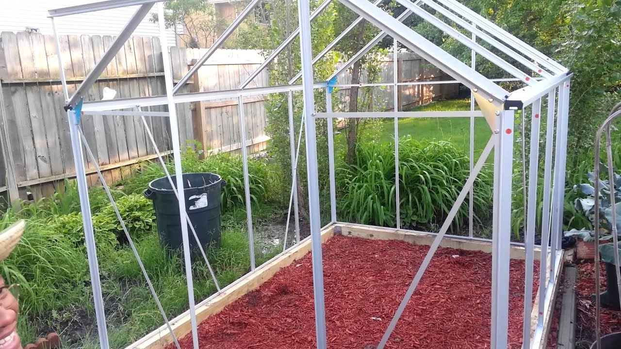 Harbor Freight 6x8 Greenhouse : Assembling harbor freight greenhouse update youtube