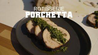 Porchetta on the GMG Rotisserie