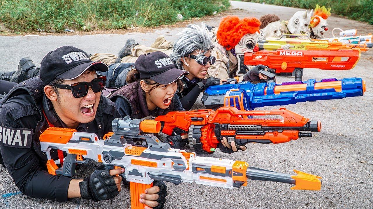 Download LTT Nerf Mod : 1 Hour Nerf War The Battle Is Not Over Of MEGA Gold