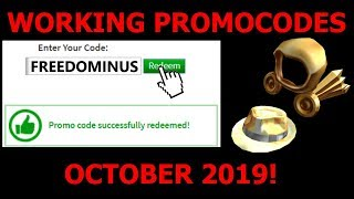 😱ALL WORKING ROBLOX PROMOCODES OCTOBER 2019😱