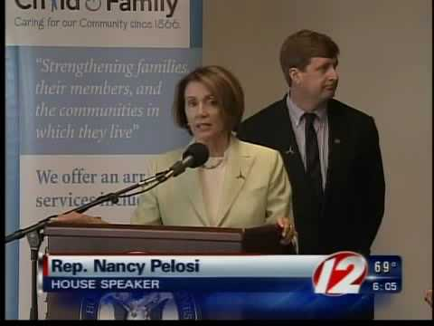 House Speaker Nancy Pelosi visits Rhode Island