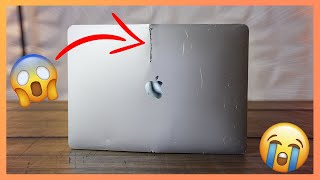 Someone tried to CUT THIS MACBOOK IN HALF, can I repair it?