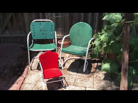 Refinishing antique metal chairs