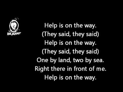 Rise Against - Help Is On The Way Lyrics