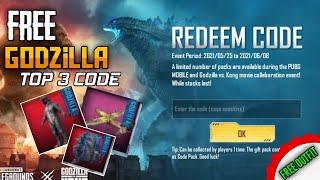 PUBG मोबाइल ट्रैवर्स रिडीम कोड   PUBG Godzilla रिडीम कोड   यूट्रेक्स प्रो screenshot 2