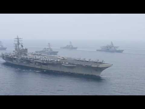 Carl Vinson and Ronald Reagan Carrier Strike Groups - VKNN