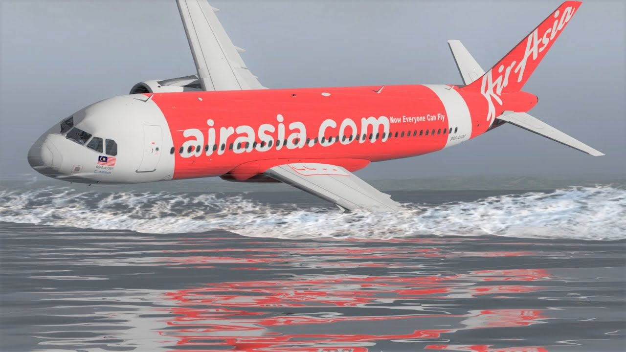 A320 Indonesia AirAsia Flight 8501 Plane Crash Detailed Animation - [28 December 2014]