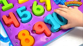 Genevieve Teaches Kids Numbers and Letters with Toy Puzzles!