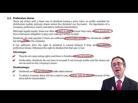 CIMA F3 Long term debt finance
