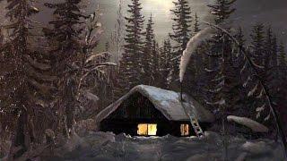 Избушка,зимняя тайга,парный поход при -30