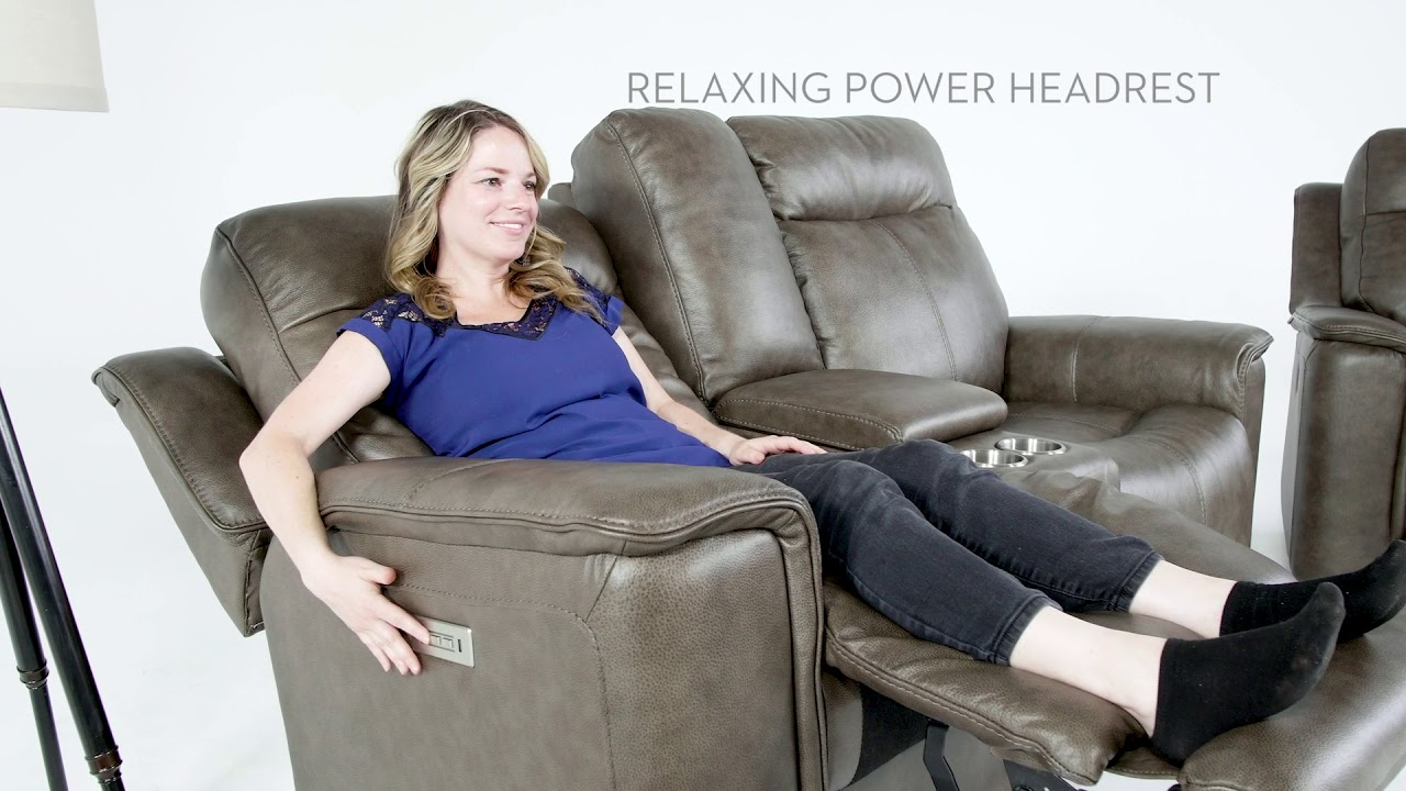 Superieur Walsh Mink Power Reclining Loveseat | Living Spaces