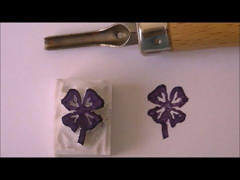 Verrassend DIY stempel maken (met HEMA guts-set) #backtoschool - YouTube RV-25