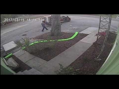 Surveillance Video: Men dump mattresses at Pasco Habitat for Humanity
