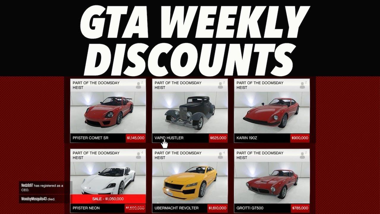 GTA 5 Weekly Discounts! (Warstock, Legendary Motorsports