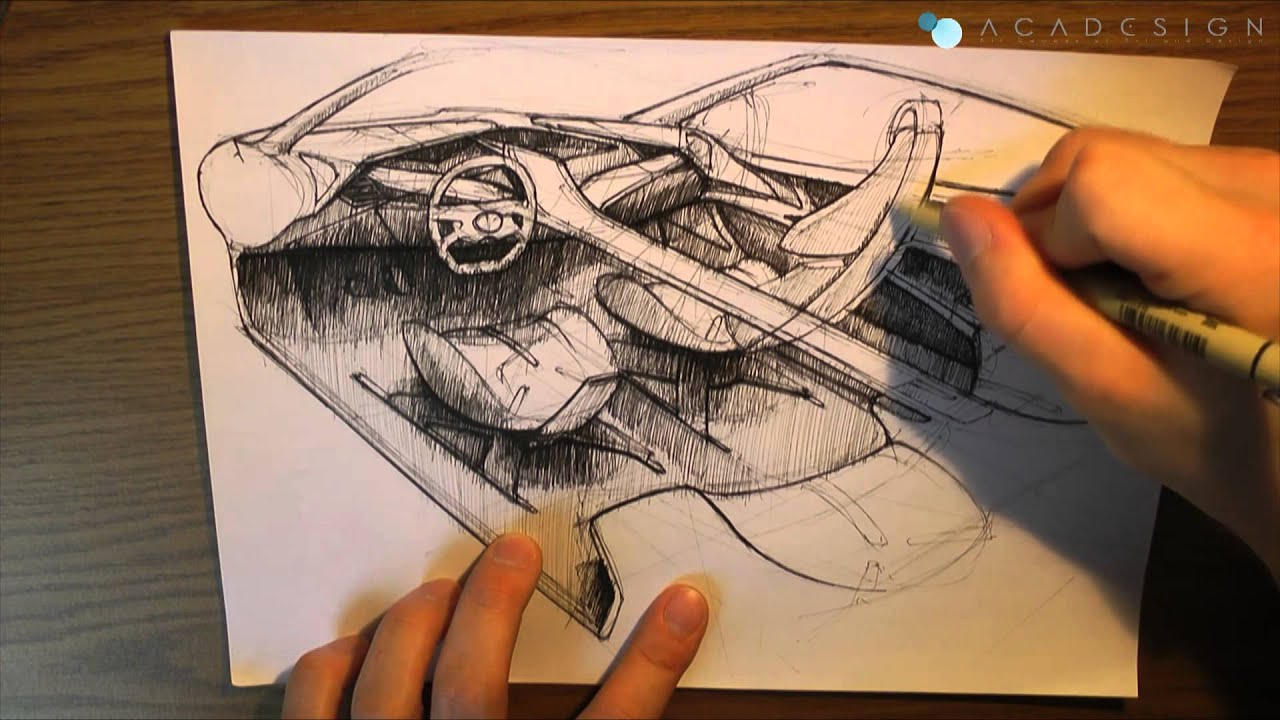 sketch me a video 003 car interior youtube. Black Bedroom Furniture Sets. Home Design Ideas