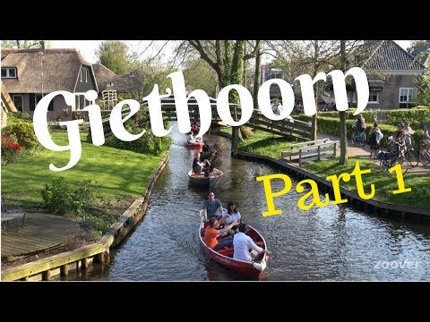 """Giethoorn, The Netherlands """"Travel Tour"""" (Part1) Venice of Holland, walking/cycling.. GoPro"""