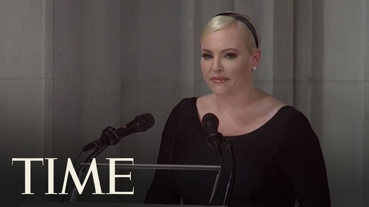 Meghan McCain Rebukes President Trump In Emotional Eulogy To Father John McCain | TIME