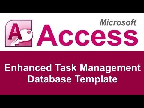 microsoft access enhanced task management database template youtube