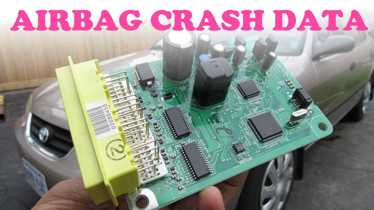 hight resolution of airbag crash data reset