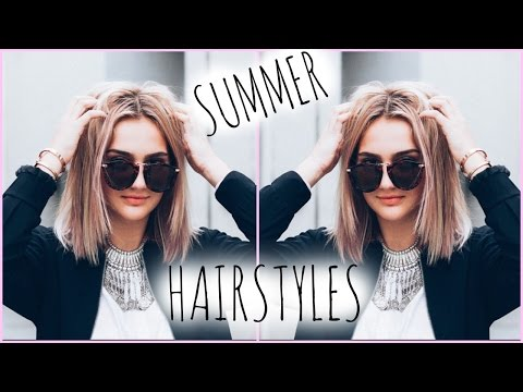 How I Style My Short Hair! // Quick Hairstyles for Summer