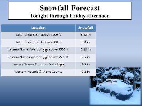 NWS Reno- Nov. 8, 2012 - Winter Storm Briefing