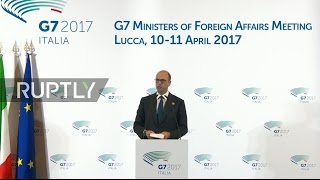 LIVE  G7 foreign ministers meet in Lucca   Closing press conference