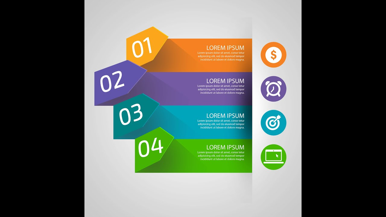 Photoshop tutorial infographics design template - YouTube