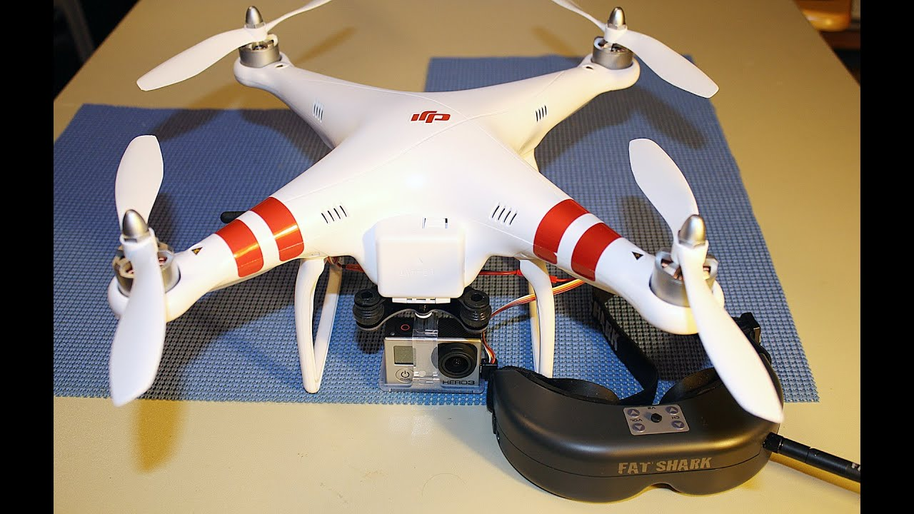 Installing Fat Shark Predator FPV Goggles To DJI Phantom Quadcopter With GoPro Hero 3 Camera
