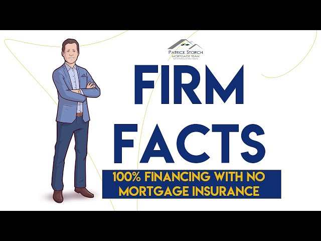 Firm Facts ✅:  100% Financing with NO Mortgage Insurance!! 🎉