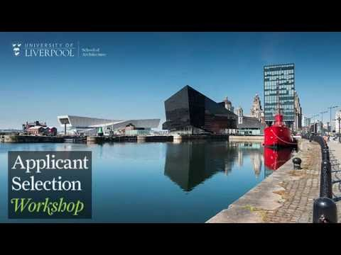 University of Liverpool - Architecture Applicant Selection Workshop