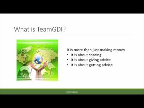 Introducing TeamGDI - where we review and share opportunities
