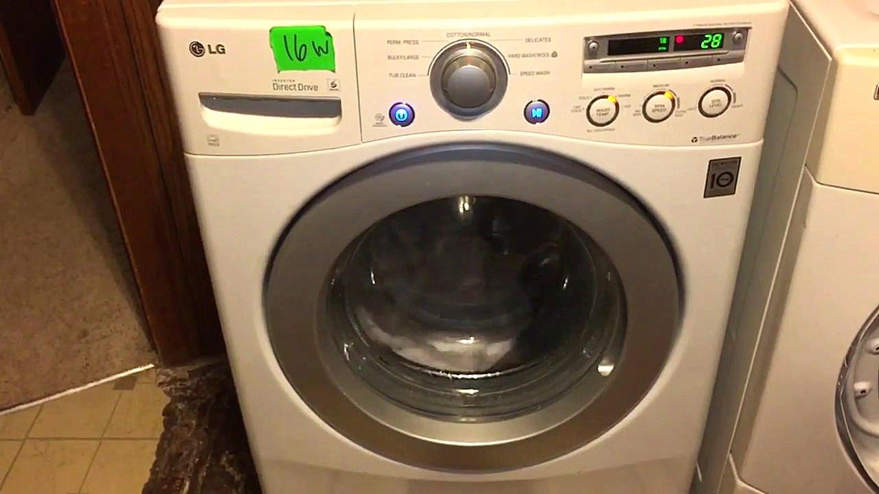 Lg Front Washer Te Error Wm2250cw Washing Problem Youtube